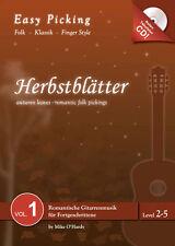 Easy Picking:Herbstblätter Vol. 1 NOTEN-TAB-CD,Folk Fingerstyle,Hanika