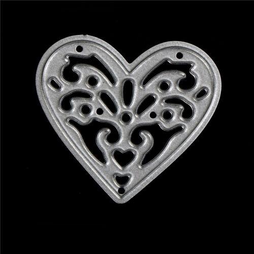 1pcs cute metal love heart cutting dies stencils embossing album paper craft HIC