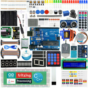 Details about Adeept Ultimate Starter learning Kit for Arduino UNO R3  LCD1602 Servo processing