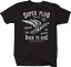 Super Spark Plug with Wings Born to Ride Custom Motorcycle Tshirt