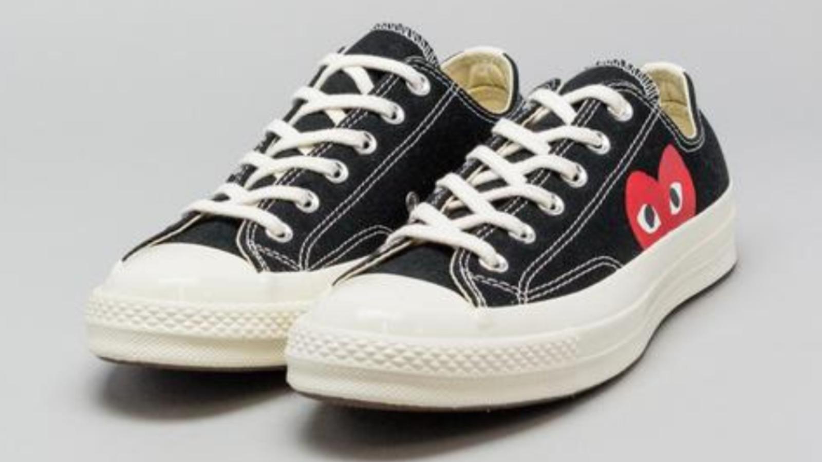 CONVERSE X COMME DES GARCONS PLAY Chuck Taylor '70 Low Black Mens Shoes 4-11