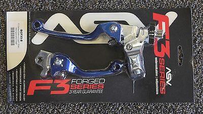ASV F3 Brake & Clutch Lever Set Blue Yamaha YZ125 YZ250 YZ250F YZ450F