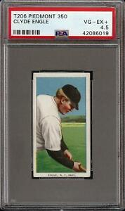 1909-11 T206 Clyde Engle Piedmont 350 New York NY PSA 4.5 VG - EX +