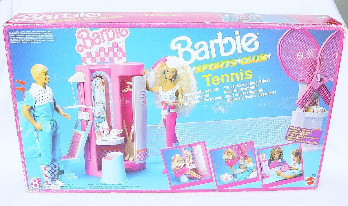 Mattel BARBIE  TENNIS SPORTS CLUB  12  Doll Figure Play Set 4972 MISB`89 RARE