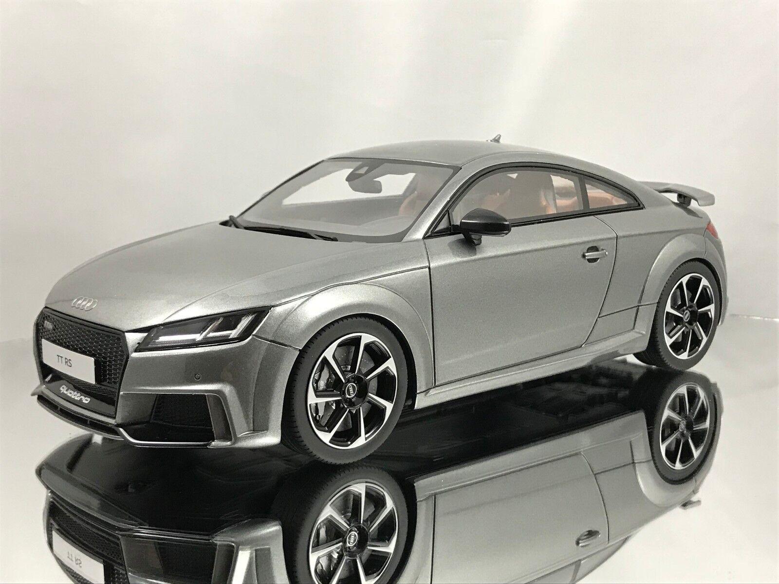 GT anda Audi TT RS Quattro 2016 Daytona grå hkonsts modellllerler Bil 1 18