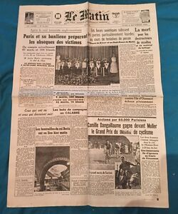 Journal Le Matin 6 Septembre 1943 N 21581