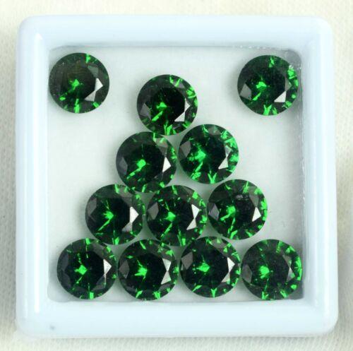 Natural Green Garnet Loose Gemstone Lot 24 Ct Round Cut AGSL Certified 12 Pcs
