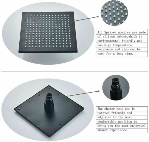Bath Shower Faucet Set 8/'/' Rain Shower Mixer Tap Rainfall Head Oil Rubbed Bronze