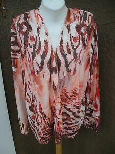 Chico's 451003069035 Aztec 18 Nwt New Animal Zip Zenergy Hoodie Knit Xl 16 3 Rare Jacket Cxww6qRnU