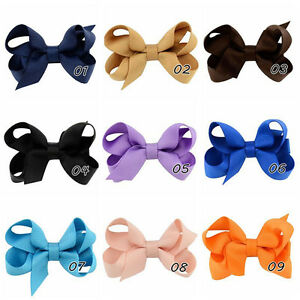 20Pcs-Girl-Baby-Kids-Hair-Bows-Band-Boutique-Alligator-Clip-Grosgrain-RibbonLJ