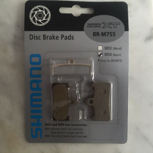 New Shimano Deore XT BR-M755 M04 Resin Pad and Spring
