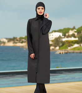 SHARIFA Ganzkörper Badeanzug Tesettür Mayo Abaya Full Cover Swimwear Burkini