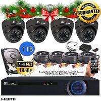 4 Full Hd 1080p 2.4mp Dome Camera Cctv System Outdoor Dvr 4 Channel P2p Hdmi