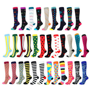 1Pair-Mens-Women-Compression-Socks-Running-Medical-Sports-Calf-Support-Stockings