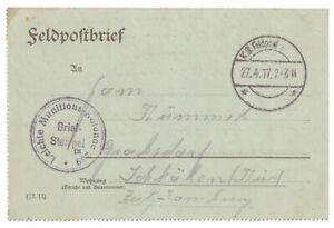 Dr-Lightweight-Munitionskolonne-239-Nach-Schkolen-Thuringen-27-04-1917