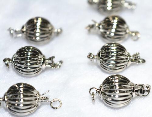 10pcs 8mm zinc alloy plated  silver lantern clasps Accessories 18K GP