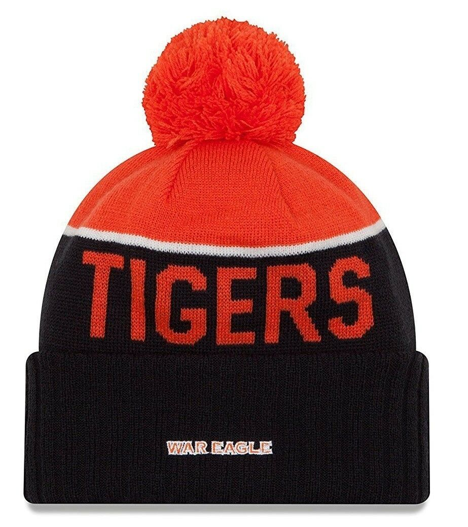 cheaper 26c3d 55385 ... official auburn tigers war eagle knit pom beanie hat ne15free capnew  era ne15 d8ab4 b683a