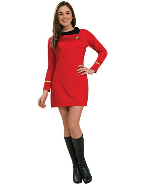 Woman Adult RED Star Trek Classic Deluxe UHURA Dress Costume