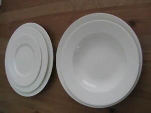5-Pieces-of-Fortessa-Fortaluxe-AMANDA-Dinnerware-EUC