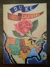 1939 Rose Bowl Program ~ USC vs DUKE ~ 2 JANUARY 1939 ~ The Pigskin Review