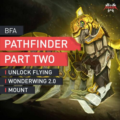 BFA Battle Raid Pathfinder 2 Two with Wonderwing 2.0 Flying Mount EU WoW 8.2