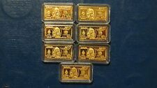 NICE!! Estate Sale!! 1 - 5 Gram Copper Bullion bar - .100 mills Gold Plated!!