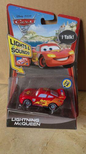 Mattel Disney Pixar Cars 2 Lightning McQueen  Lights /& Sounds Vehicle Talk NEW