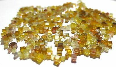 10+ Carats lot of Polished Natural Cubic Cube Diamonds Mixed Colors
