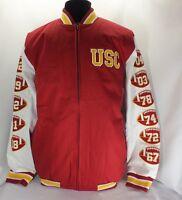 Usc Trojans Ncaa Cardinal Commemorative Jacket Large Size By Authentic Apparel