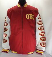 Usc Trojans Ncaa Cardinal Commemorative Jacket Large Size By Authentic Apparel