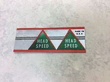 Head Speed putter shaft band label (1) restore 8802 or Wilson Arnold Palmer