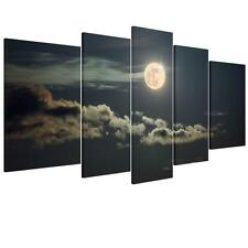 5pcs/Set Canvas Prints Home Decor Wall Art Picture Moon Night Clouds Unframed