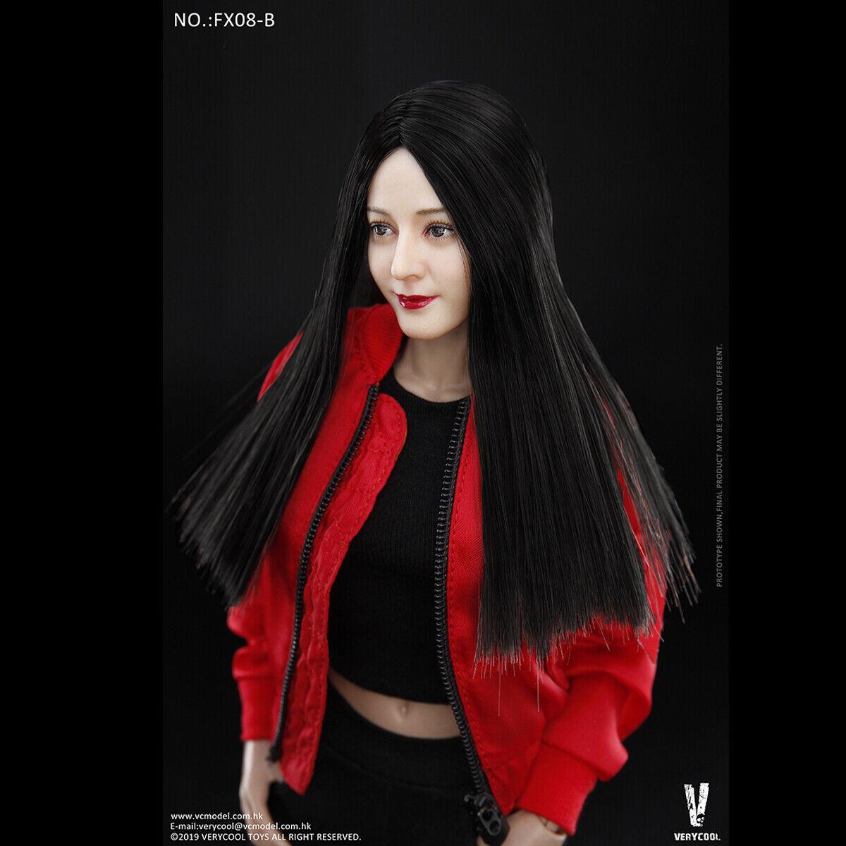 VERYCOOL 16 FX08B Beauty Straight Hair Female Head Sculpt With corpo giocattoli
