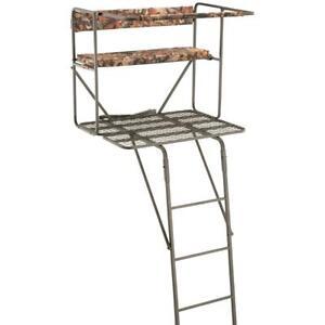 Tree Stand Hunting Ladder 17 5ft Telescopic Deer Hog Game
