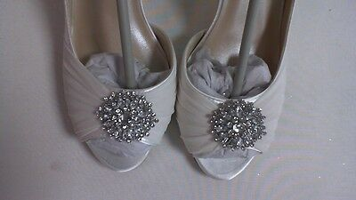 Retoques Boda Zapatos-Blanco-Helen-US 9 M UK 7 #27E351