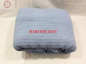 Ralph-Lauren-Home-Estate-100-Cotton-FULL-QUEEN-Bed-Blanket-Blue