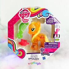 "NEW My Little Pony Applejack Water Cuties 3"" Figure + Scan & Play App Feature!"