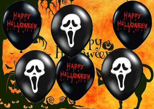 Luftballons Scream Happy Halloween Party Deko Dekoration Grusel Ekel Feier