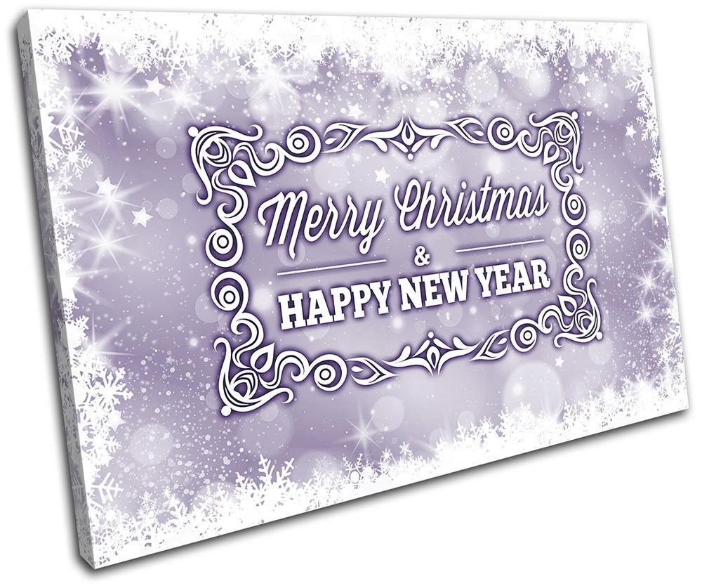 Christmas Decoration Wall Canvas ART Print XMAS Picture Gift Bokeh Bokeh Bokeh 17 viola Chr 133dc6