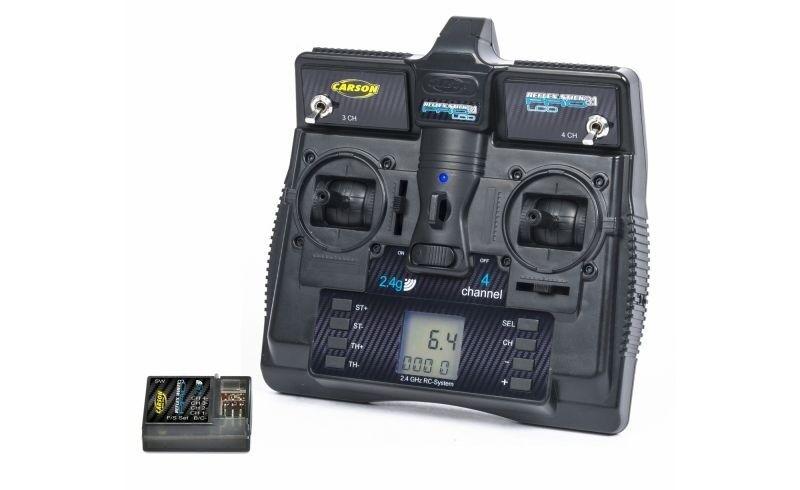 Carson FS reflejo Stick Pro 3.1 LCD de 2,4 GHz 4 canales control remoto - 500500085