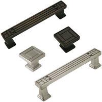 25 Packs - Cosmas Kitchen Cabinet Hardware Square Knobs, Handles & Drawer Pulls