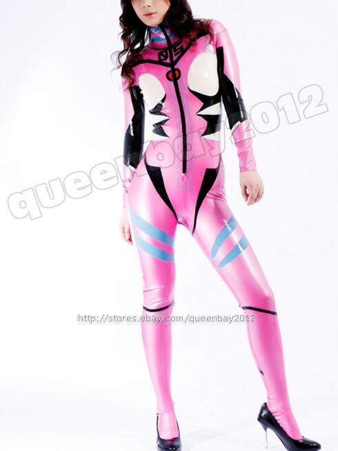 100% Latex Rubber Gummi 0.45mm Bodysuit Catsuit Costume Leotard Zentai Halloween