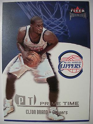 Cheap Sale 2002-03 Fleer Premium Prime Time Elton Brand Box 46 2019 Latest Style Online Sale 50% Clippers !