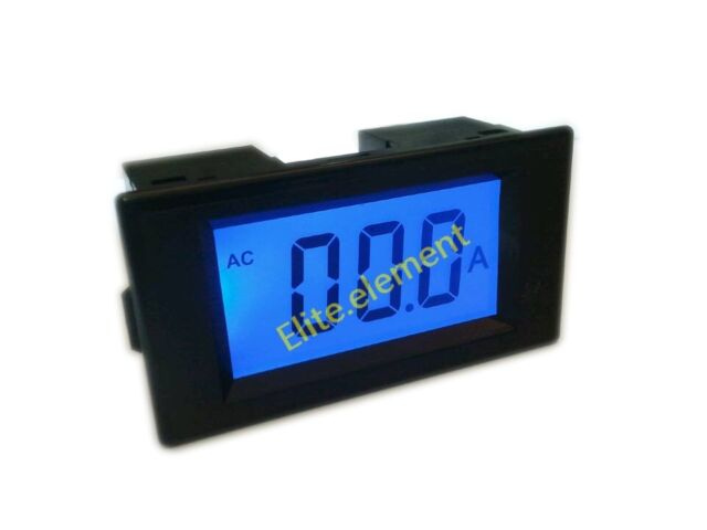 Blue LCD AC 0-50A Digital Amp Meter With Current Transformer Mutual Iinductor