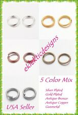 4mm Open Jump Rings Antique Bronze 1000 Pack 4mm Dia x .7mm 21 Gauge