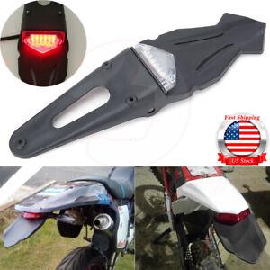 Universal  Fender Enduro Dirt Bike 12V LED Brake Stop Rear Tail Turn Light Bike