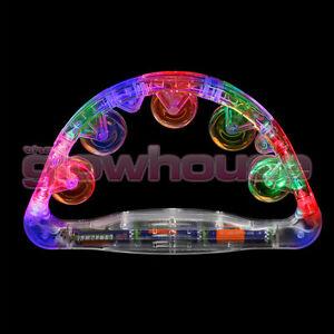 12 x Sensory Led Light Up Flashing Tambourine Shaking Sensory Toy