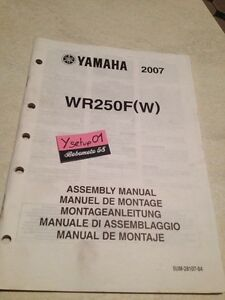 Details about Yamaha WR250F(W) Wrf 250 Wr WRF250 Setup Manual Assembly  Preparation