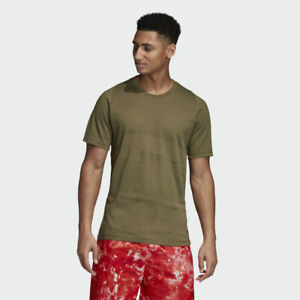 BRAND-NEW-50-adidas-Men-039-s-ID-JACQUARD-TEE-DP3125-RAW-KHAKI