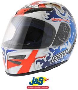 Agv Stealth St George Blue Motorcycle Helmet Xs 54 Cms Was 199 99 J S Sale Ebay